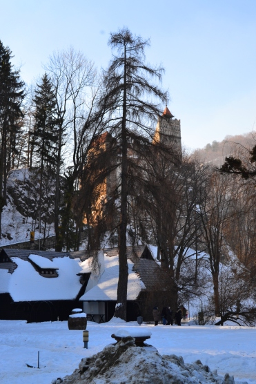 Bran Castle in the Snow