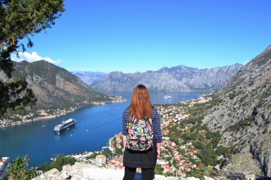 Hiking the Fortress walls in Kotor
